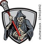 illustration of the grim reaper ... | Shutterstock .eps vector #374418442