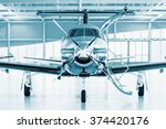 single turboprop aircraft in... | Shutterstock . vector #374420176