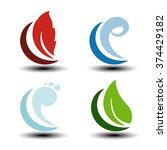 vector natural symbols   fire ... | Shutterstock .eps vector #374429182