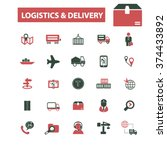 logistics  delivery  shipping ... | Shutterstock .eps vector #374433892