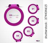 infographic design vector... | Shutterstock .eps vector #374434615