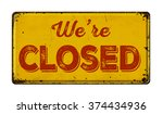 vintage rusty metal sign on a... | Shutterstock . vector #374434936