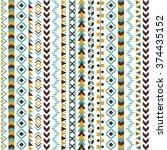 vector tribal aztec seamless...   Shutterstock .eps vector #374435152