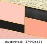 abstract geometric rectangles... | Shutterstock .eps vector #374436685