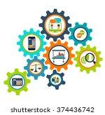 concept process cogwheel design ... | Shutterstock .eps vector #374436742