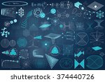 science. big collection of... | Shutterstock .eps vector #374440726