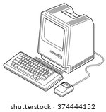 Old Computer Vector Art & Graphics | freevector com