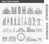 flat line design style vector... | Shutterstock .eps vector #374445028