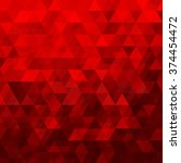 red abstract geometric triangle ... | Shutterstock .eps vector #374454472
