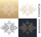 calligraphic design element.... | Shutterstock .eps vector #374456716
