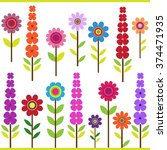 vector set of bright colors of... | Shutterstock .eps vector #374471935