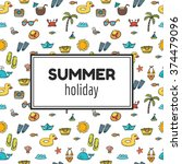 summer holiday. summer tropical ... | Shutterstock .eps vector #374479096