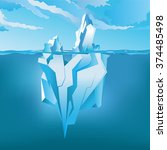 iceberg under water and above... | Shutterstock .eps vector #374485498
