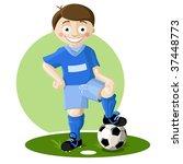soccer player boy style cartoon   Shutterstock .eps vector #37448773