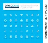 Droid Icons. Set Of 35 Flat...