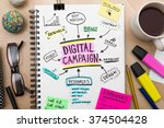 digital campaign roadmap plan... | Shutterstock . vector #374504428