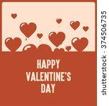 happy valentines day  flying... | Shutterstock .eps vector #374506735