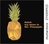 vector pineapple  isolated... | Shutterstock .eps vector #374509915