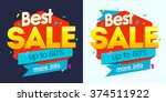 sale banner  badges  design... | Shutterstock .eps vector #374511922