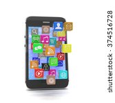 icon app fall in smart phone   Shutterstock . vector #374516728