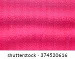 background of pink yoga mat | Shutterstock . vector #374520616