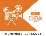 composition with cinema... | Shutterstock .eps vector #374523115