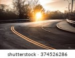 Dark Asphalt Road With Bright...