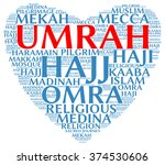umrah info text  word cloud  ... | Shutterstock .eps vector #374530606