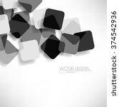 overlapping geometric squares... | Shutterstock .eps vector #374542936