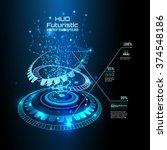 futuristic interface  hud  ... | Shutterstock .eps vector #374548186