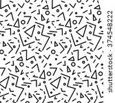 seamless geometric vintage... | Shutterstock .eps vector #374548222