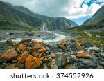 fox glacier destination in new ... | Shutterstock . vector #374552926