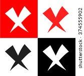 remove  delete  x icon vector...
