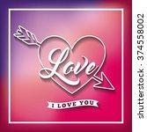 love card design  | Shutterstock .eps vector #374558002