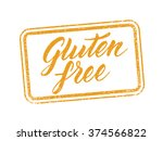 gluten free stamp with hand...   Shutterstock .eps vector #374566822