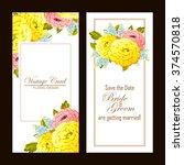 romantic invitation. wedding ...   Shutterstock .eps vector #374570818