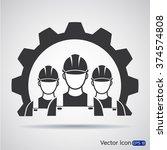 industrial workers icon | Shutterstock .eps vector #374574808