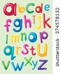 font design with english... | Shutterstock .eps vector #374578132