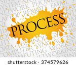 process business concept in... | Shutterstock . vector #374579626