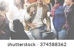 diversity people group team... | Shutterstock . vector #374588362