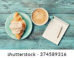 Coffee Mug With Croissant And...