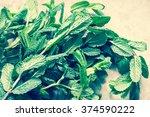 pepper mint bunch toned photo | Shutterstock . vector #374590222
