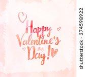 happy valentine's day  raster...   Shutterstock . vector #374598922