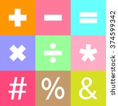 basic mathematical symbols....   Shutterstock .eps vector #374599342