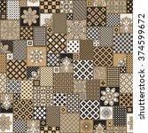 vector seamless patchwork... | Shutterstock .eps vector #374599672