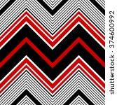 seamless zigzag pattern.... | Shutterstock .eps vector #374600992