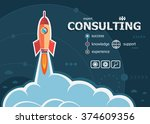 consulting design and concept... | Shutterstock .eps vector #374609356