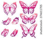 Stock vector butterflies design 374611705