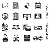 elections black icons set with... | Shutterstock .eps vector #374613928
