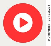 play circle navigation button... | Shutterstock .eps vector #374616235